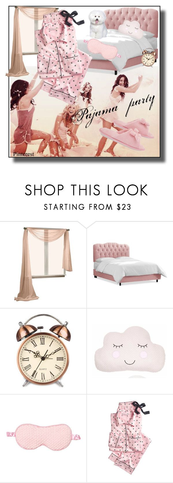 """""""Pajama party"""" by zakharova-83 ❤ liked on Polyvore featuring Pijama, Sass & Belle, Victoria's Secret and Deluxe Comfort"""