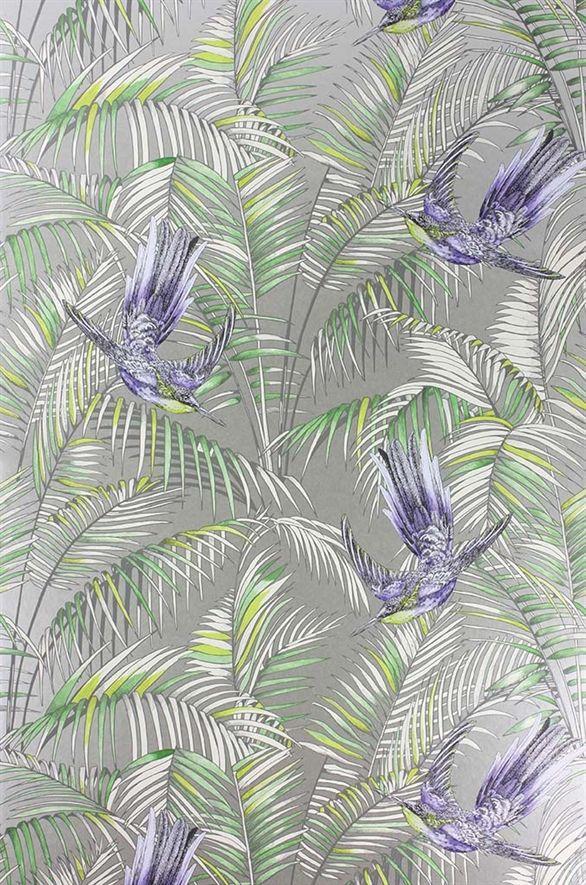 Tranquil colourway in Matthew Williamson's Eden wallpaper range. Osborne & Little: W6543-01