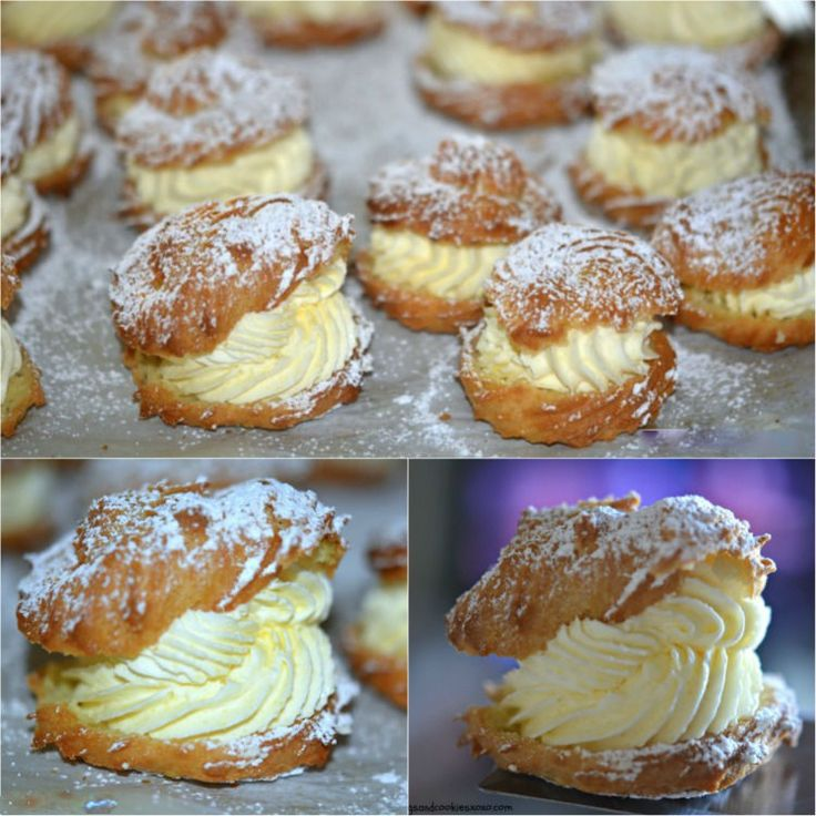 Ingredients:     1 stick butter (8 Tablespoons)   1 cup water   1 tsp vanilla   4 eggs   1c flour   MOM'S FAMOUS FILLING:   1 p...