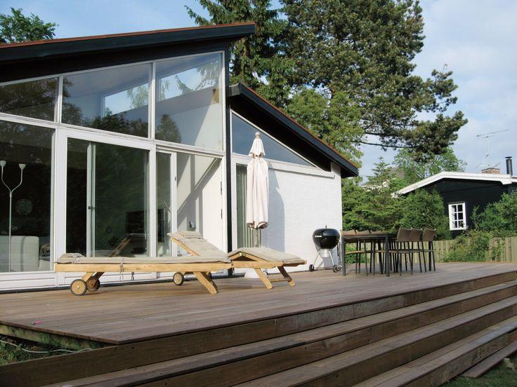 En ny terrasse giver facaden et nyt look