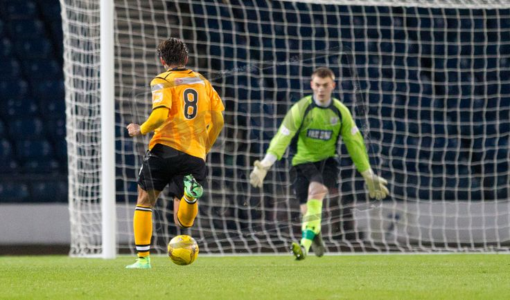 Annan Athletic's Matthew Flynn closes in on goal during the SPFL League Two game between Queen's Park and Annan Athletic.