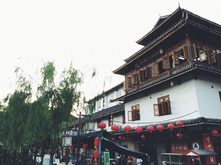 Old style buildings Jiangnan Water Street, Nanning, Guangxi #explorechina #travelchina