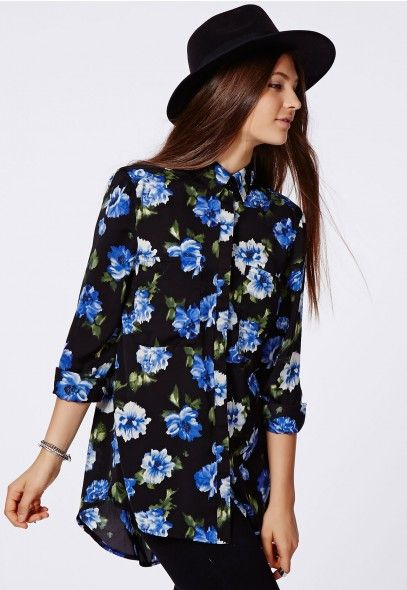 This floral shirt something different for Autumn/Winter and teamed with the hat it makes quite a unique and almost sophisticated look. #MissguidedAW14