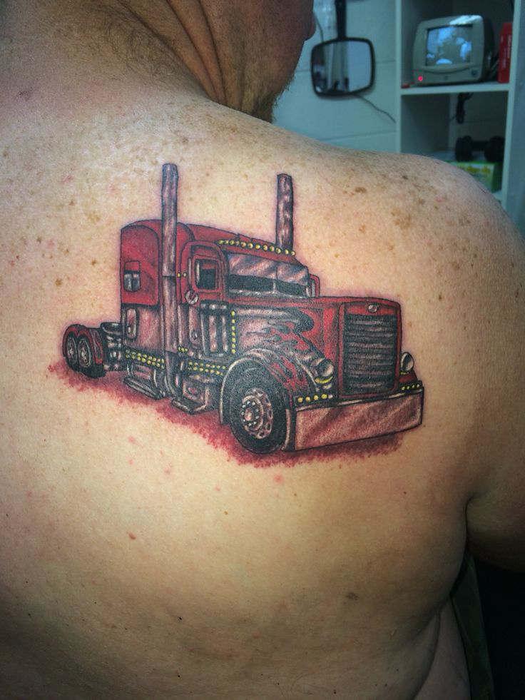 Truck drivers delight Tattoo done by Ricky Garza in victoria tx. Got ink?  X-treme ink tattoos