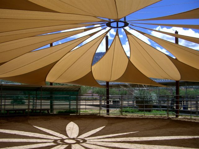 Custom Shade Sails Phoenix  What a beautiful design and shade pattern!