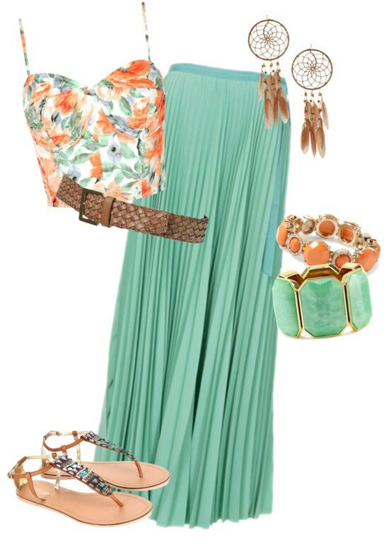 Combine #mint and #pastels with this springs #boho look! find more women fashion ideas on www.misspool.com