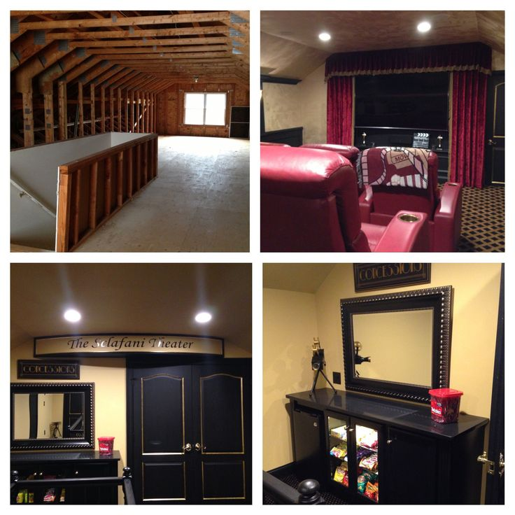 Concession Stand For Theater Room With Images: Attic Transformed Into Home Theater Heaven! Movie Theater