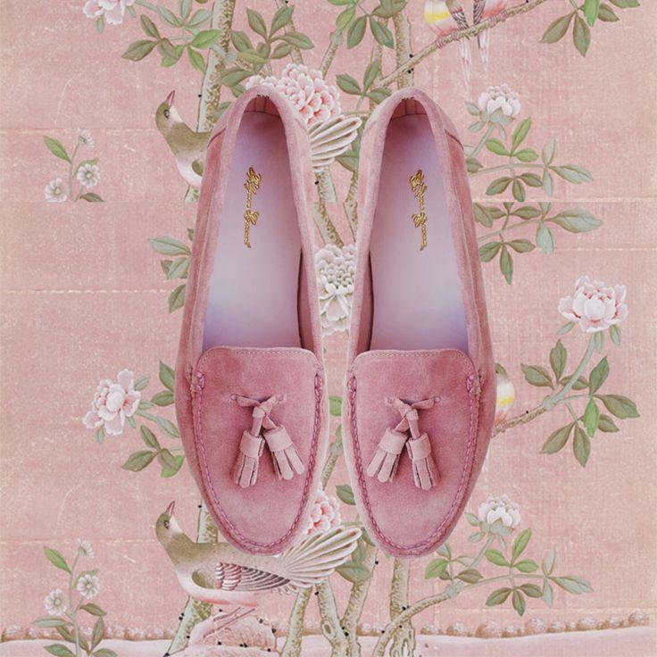 PARISIAN SKIES TASSEL LOAFER - Pink Suede