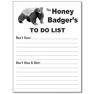 honey badger don't care.