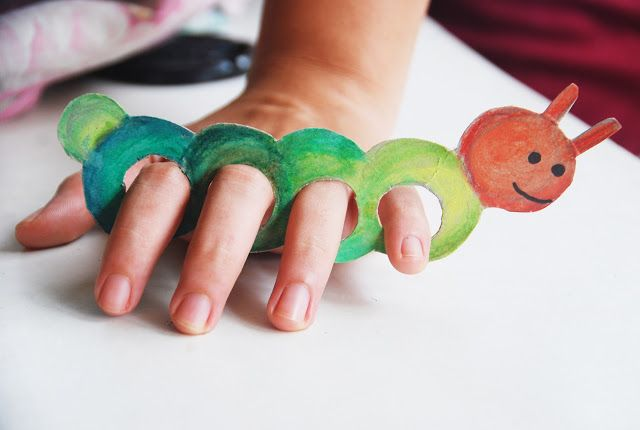 DIY Kids Craft - Cardboard Finger Puppets