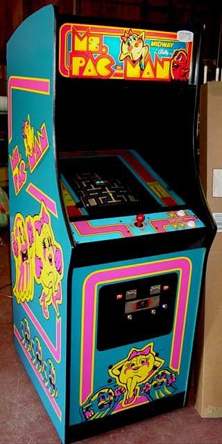 ms pac man  I remember the first time seeing a PacMan game in Cincinnati on a field trip for school - at the place we went for lunch