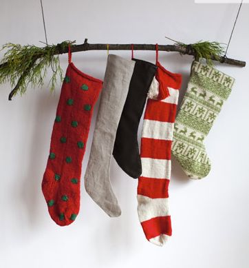 no mantle? no problem! 10 alternate ways to hang your stockings