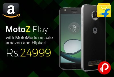 #MotoZPlay Just Launched with #MotoMods on sale #Amazon and #Flipkart for Rs.24999. Octa-core processor + 3 GB RAM, TurboPower, Get up to 8 hours of power in just 15 min of charging, Moto Mods Turn your phone into a film projector, music player, battery powerhouse, and more, in a snap ...   http://www.paisebachaoindia.com/motoz-play-with-motomods-on-sale-amazon-and-flipkart-for-rs-24999/