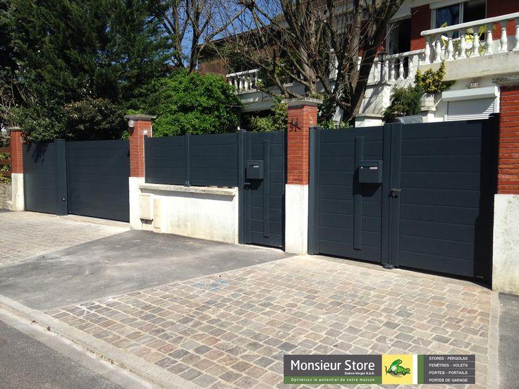 Best 25 portail coulissant ideas on pinterest porte entree maison portes coulissantes - Boite aux lettres 2 portes gris anthracite ...