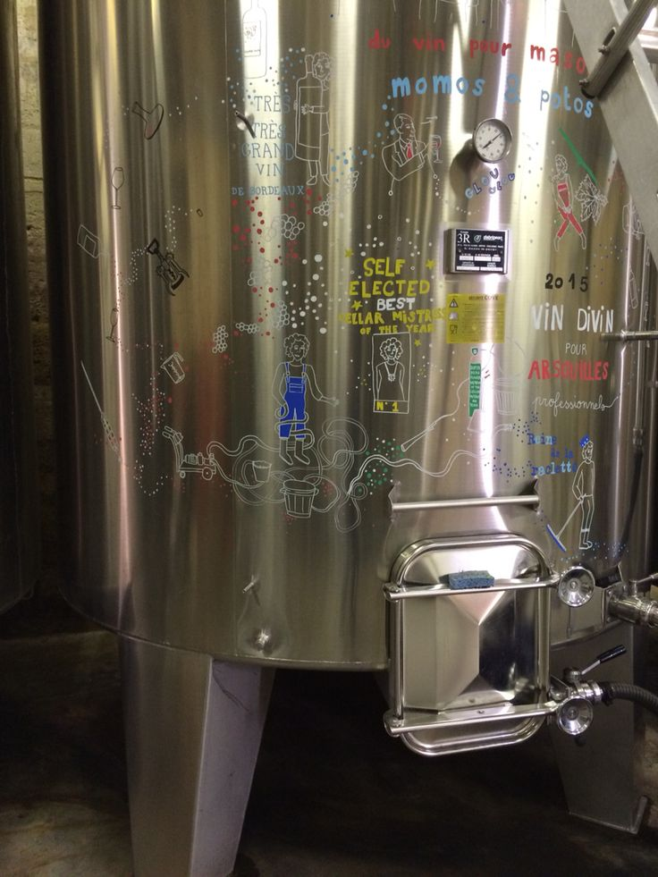 ephemeral drawing on vat - harvest 2015 - winemaking - vinification