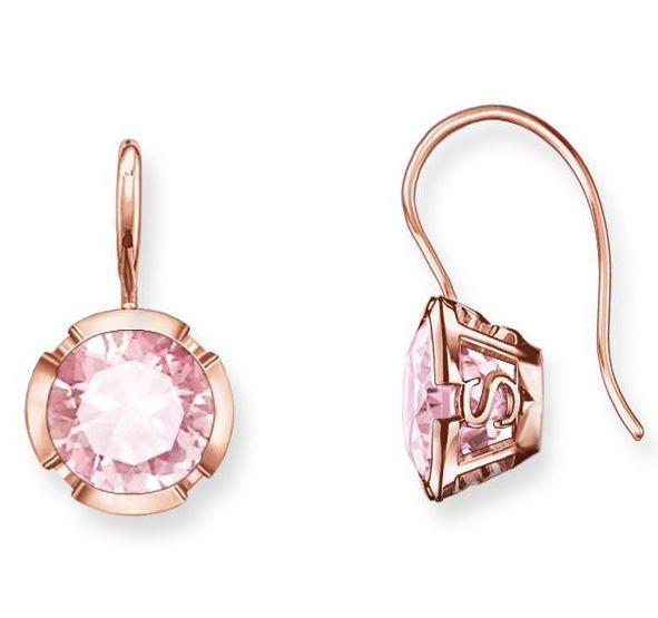 Thomas Sabo Earrings Glam & Soul Pink Corundum Rose Gold | C W Sellors Fine Jewellery and Luxury Watches