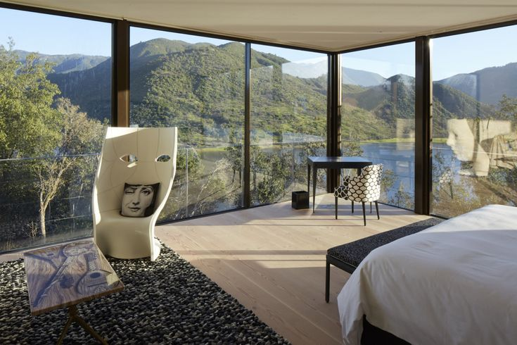 DRIADE Nemo lounge chair at  Viña Vik hotel in Millahue, Chile