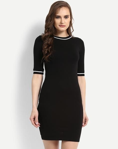 Shop now the latest #BlackBodyconDress #BodyconMidiDress available at ladyindia.com http://bit.ly/2vBRqeR
