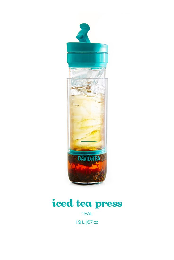 Made of BPA-free Tritan™, you can steep your iced tea anywhere, anytime with this all-in-one travel mug.