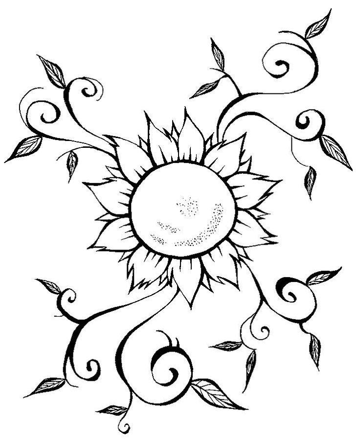 Encontre aqui os mais lindos desenhos de flores pa…