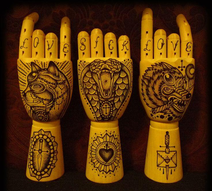 Tattoo hands idea love sick kunst pinterest for Love sick tattoo