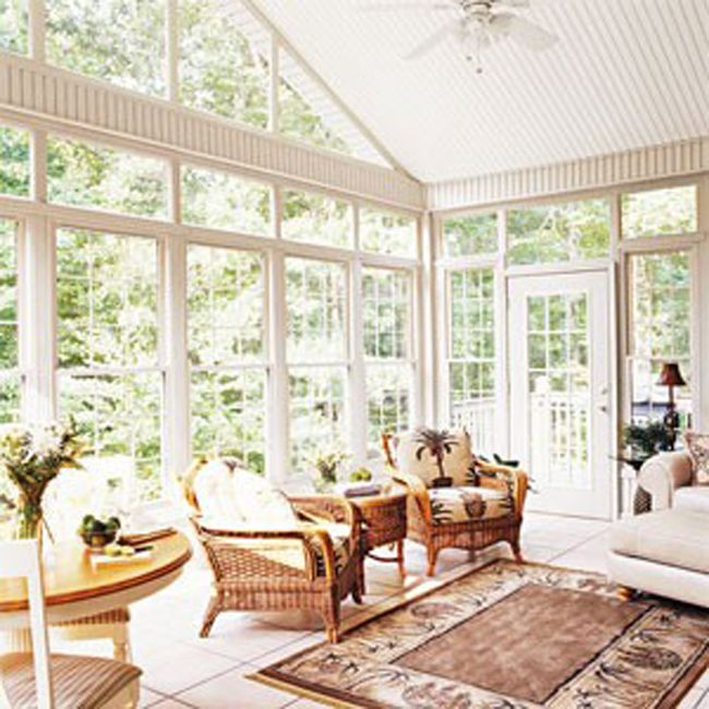 House Additions Ideas A Sunroom Over The Ravine: Sunroom Furniture With Area