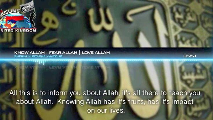 know allah -- fear him -- powerful speech