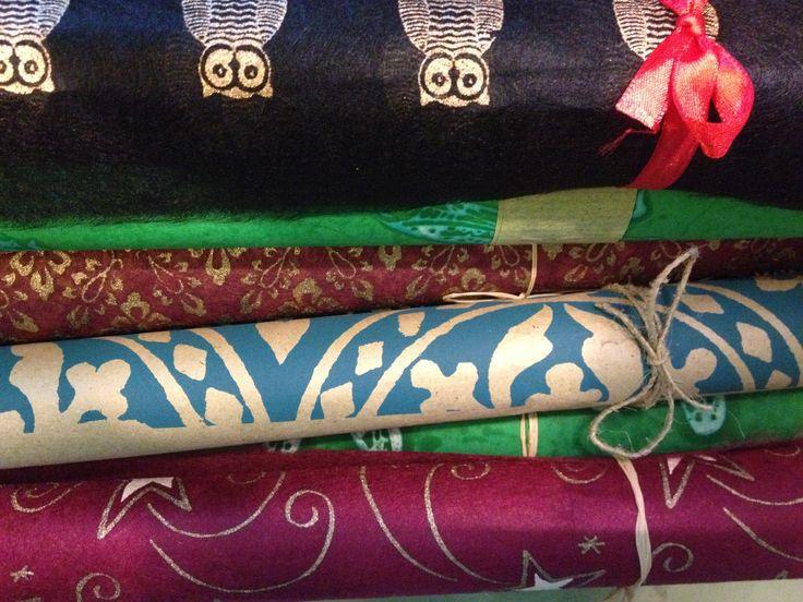 Lovely fair trade gift wrap - handmade in Northern Bangladesh.
