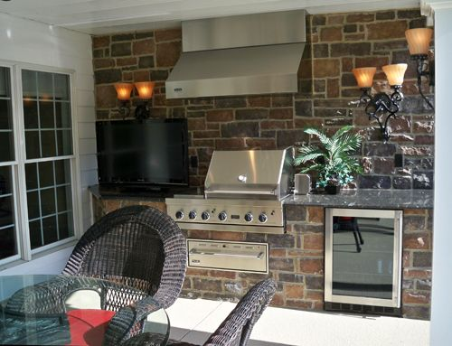 17 best images about outdoor kitchens on pinterest refrigerators cooking and chesterfield for Outdoor kitchen hood designs