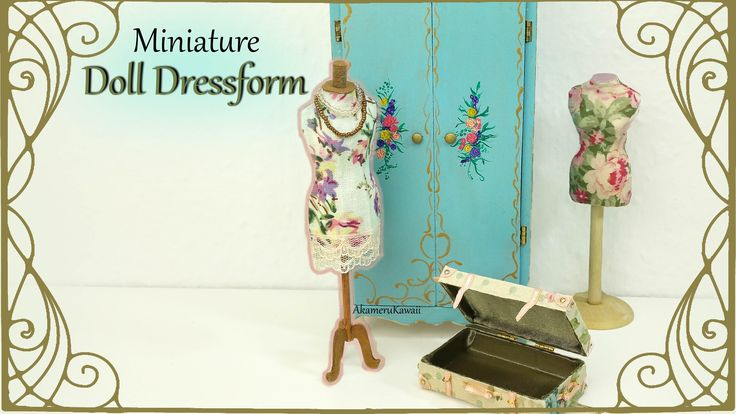 Easy Dress Form from Cardstock & Fabric - Tutorial