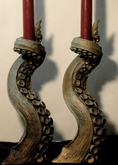 Octopus Tentacles Candleholders - cool idea actually!