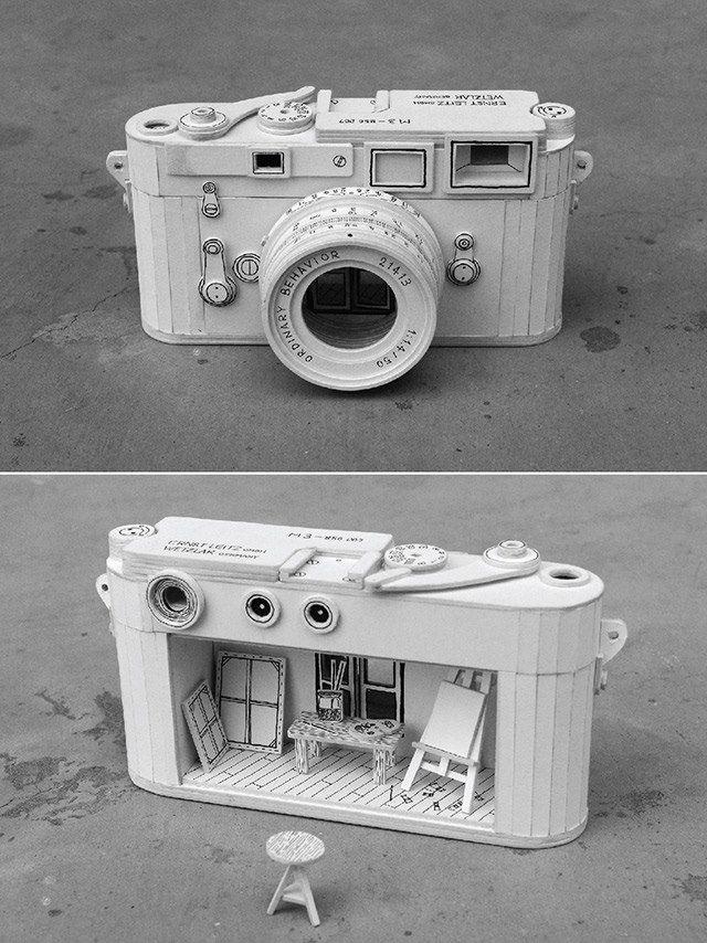 Ordinary Behavior: Cardboard Electronics Containing Absurd Miniature Dioramas