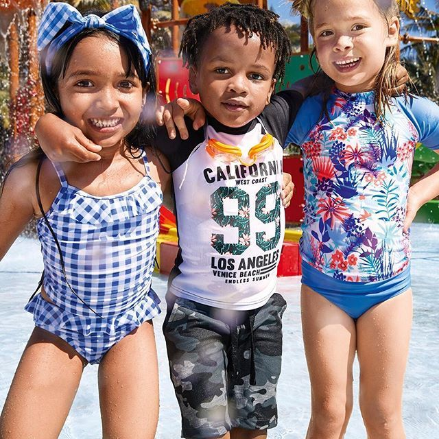 You don't have to splash out for them to dive in. Our kids' swimwear offers everyday value for busy moms who deserve a holiday.   Girls' Tankini sets R160, Hairband R39  Boys' Rash vest R120  Available online and in selected stores only   #myexact #exact_clothing  #myexactstyle