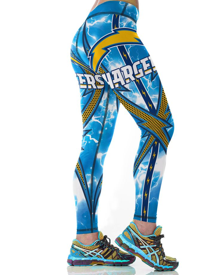 Los Angeles Chargers Printed Leggings & Yoga Pants High Quality (NEW)