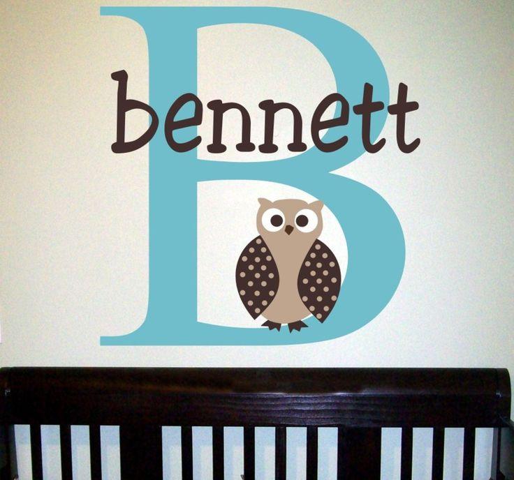 Best Owl Nursery Images On Pinterest - Personalized custom vinyl wall decals for nursery