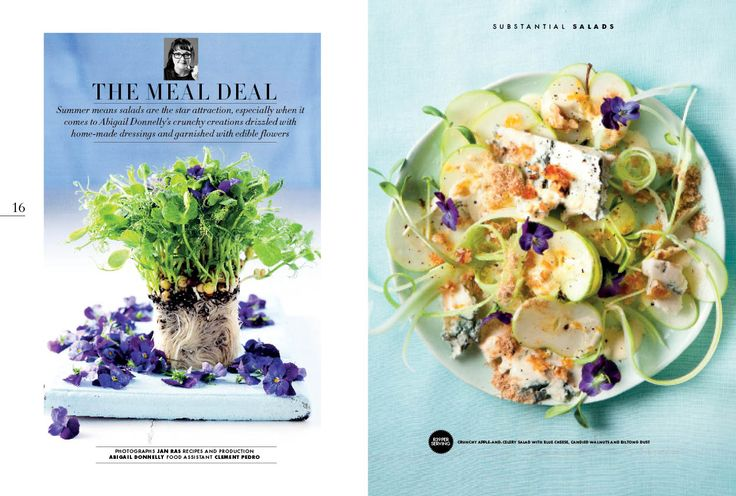 Summer means salads are the star attraction, especially when it comes to Abigail Donnelly's crunchy creations drizzled with home-made dressings and garnished with edible flowers.