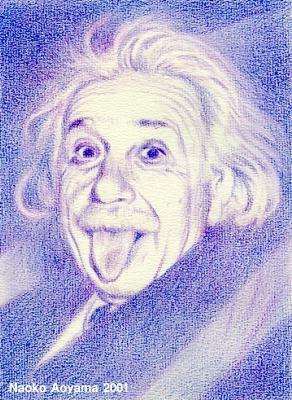 2001 Albert Einstein. color pencil by Naoko Aoyama