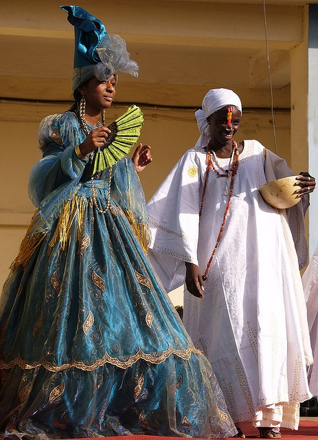 Traditional Dress, Senegal. The signares women from Goree and Saint Louis Senegal.