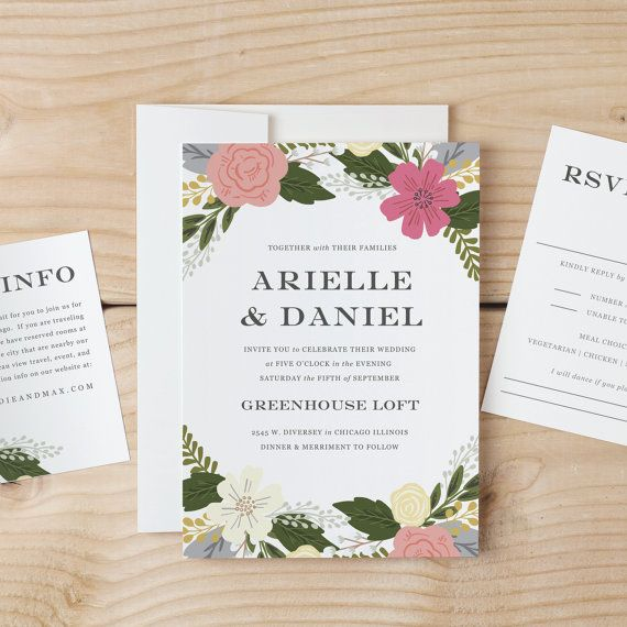 Instant DOWNLOAD Printable Wedding Invitation by SwellAndGrand