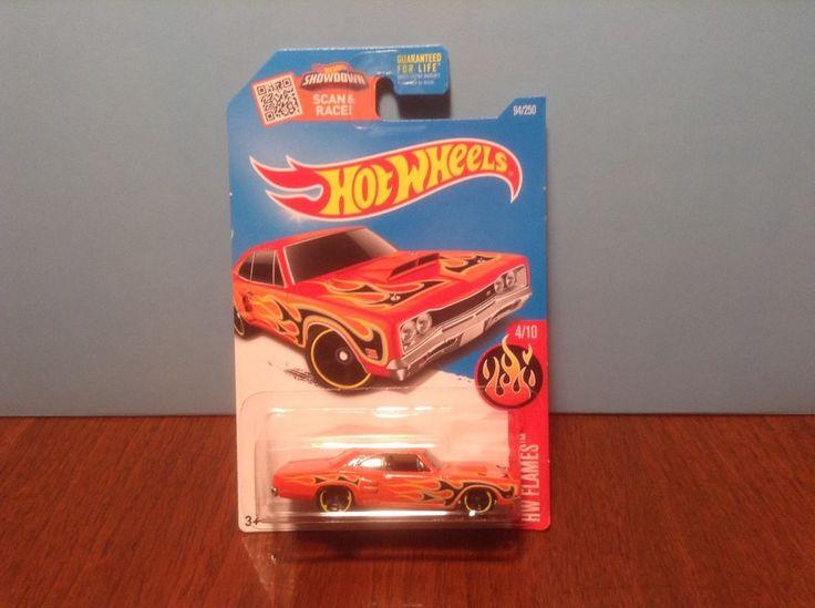 Hot Wheels '69 Dodge Coronet Superbee #94 HW Flames #4 of 10 2016 Orange 1969 #HotWheels #Dodge