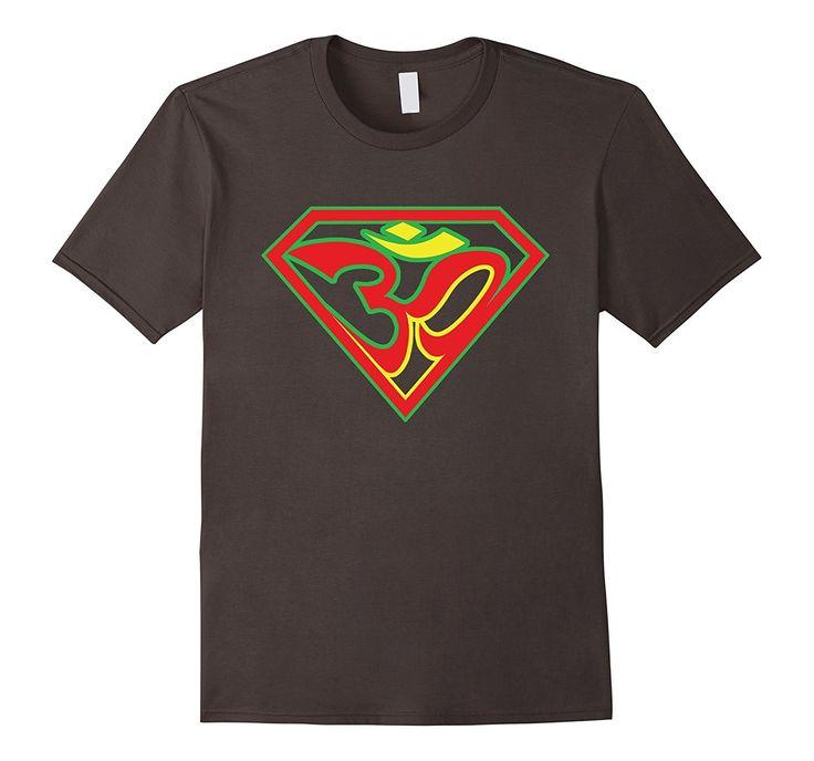 Super Om with Rasta Colors Yoga T-shirt