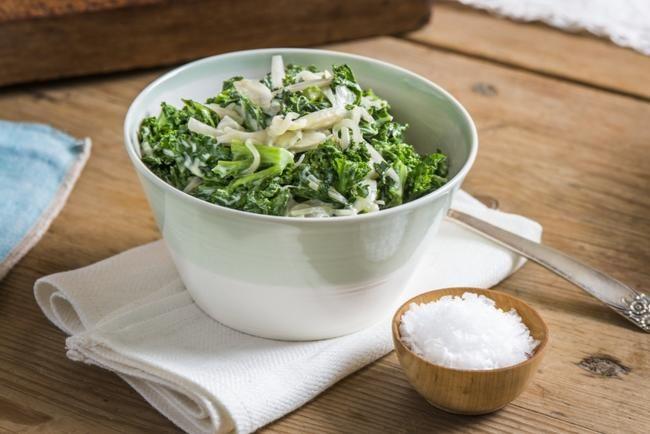 Kremet grønnkål Grønnkål er både veldig trendy og veldig sunt! Her har du en mild og myk utgave av denne karaktersterke kåltypen.