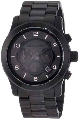 Men's Watches  - Pin it :-) Follow us .. CLICK IMAGE TWICE for our BEST PRICING ... SEE A LARGER SELECTION of men's watches   at  http://azgiftideas.com/product-category/mens-watch/  - gift ideas ,  mens  , mens gift ideas - Michael Kors Watches Michael Kors Men's Steel Black Chronograph Sport