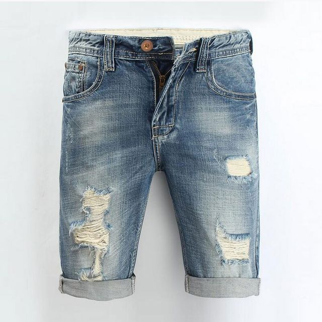 Promotion price Men Jeans 2016 Summer Casual Men Jeans Shorts Hole High Quality Fashion Knee Length Ripped Jean For Men Brand Pants Shorts just only $24.08 with free shipping worldwide  #jeansformen Plese click on picture to see our special price for you