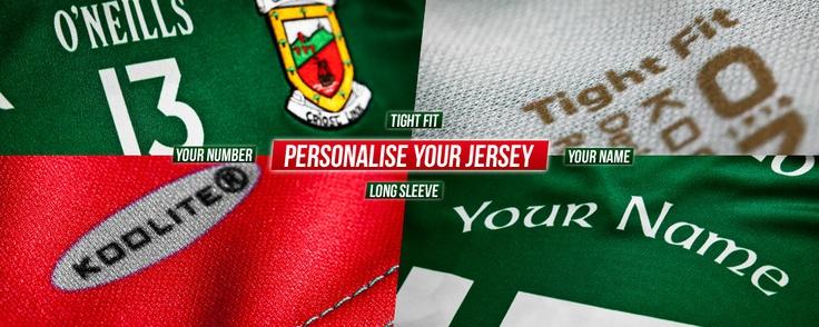 O'Neills personalised jerseys