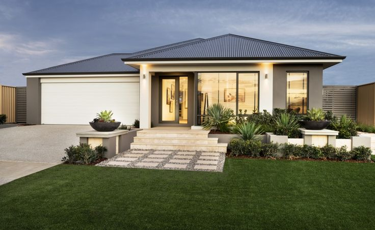 Front Elevation Ideas Australia : The brando modern elevation with rendered facade and