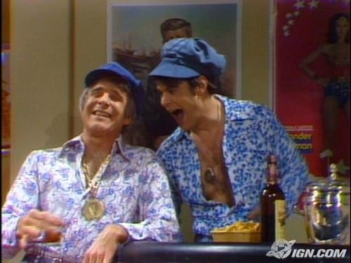 """Wild & Crazy Guys * Steve Martin and Dan Aykroyd played Jorge and Yortuk Festrunk, Saturday Night Live's """"swinging"""" Czech brothers whose catchphrase was """"we are two wild and crazy guys."""""""