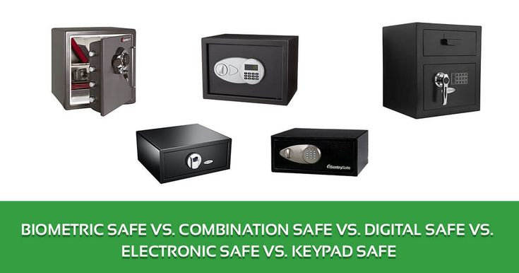 Biometric Safe vs. Combination Safe vs. Digital Safe vs. Electronic Safe vs. Keypad Safe