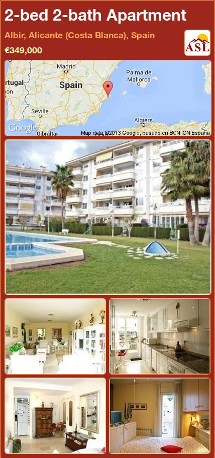 2-bed 2-bath Apartment in Albir, Alicante (Costa Blanca), Spain ►€349,000 #PropertyForSaleInSpain