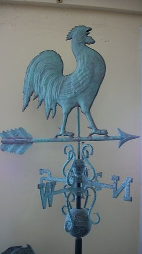 Beautiful Copper Rooster Weathervane Antique Finish | eBay